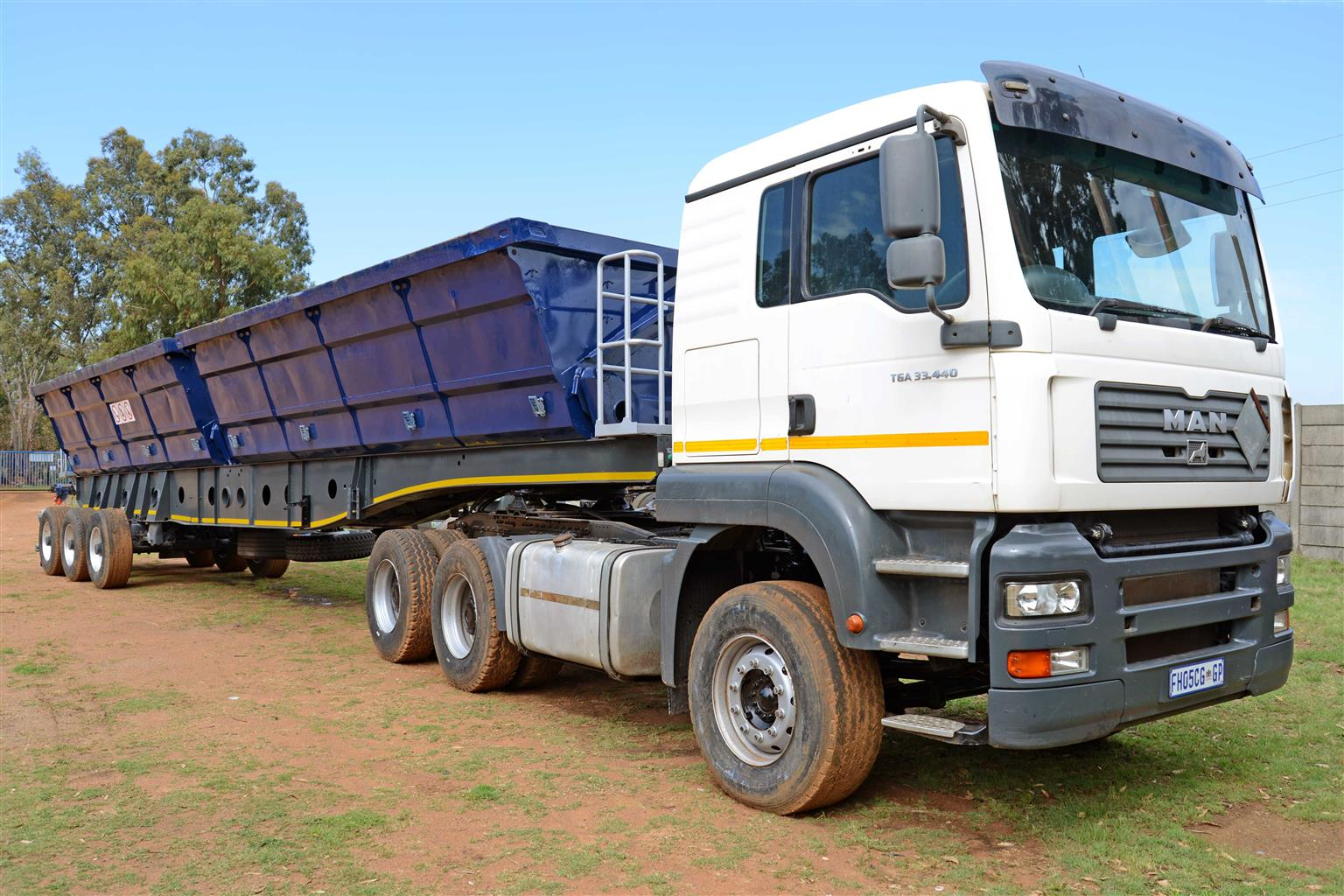 Start Your Own Trucking Business, 34 Ton Side Tippers, Become A Trucker In Gaborone, Botswana